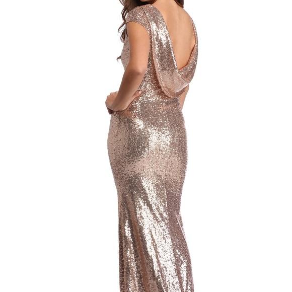 bbb1c68f Windsor Dresses | Rose Gold Sequin Bridesmaid Dress | Poshmark